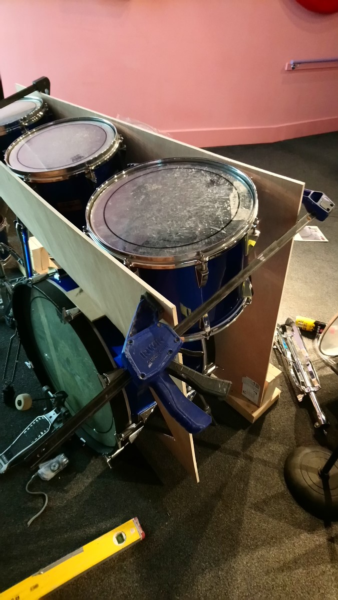 Racket and klanc drums -  building the frame Marek Gabrysch