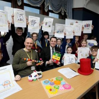 Tees Valley Mayor, Ben Houchen and Dominic Wilcox and Pioneers at the first Pioneers session Jan 2019 ⓒTees Valley Mayor