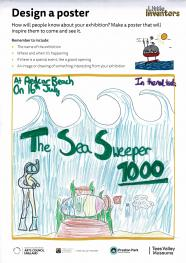 Sea Sweeper 1000 by  Lainey Exhibition poster