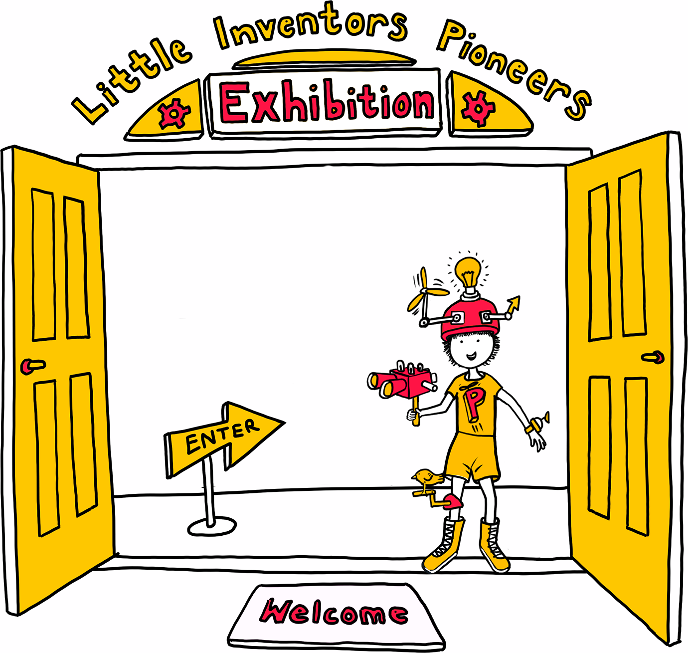 Enter the Little Inventors Pioneers Exhibition
